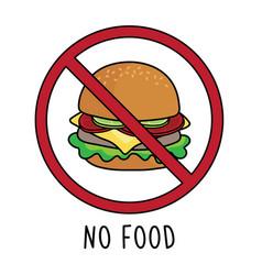 no food symbol sign doodle hand drawing i vector image