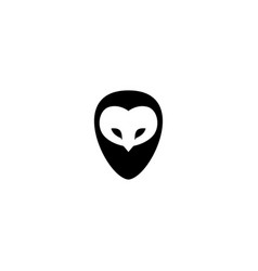 owl logo wisdom wise vector image