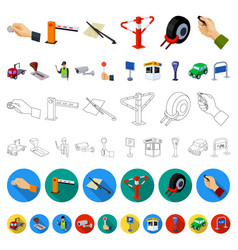 parking for cars cartoon icons in set collection vector image