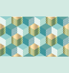 pastel and gold geometric seamless pattern vector image