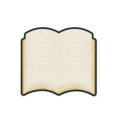 school open book reading icon vector image