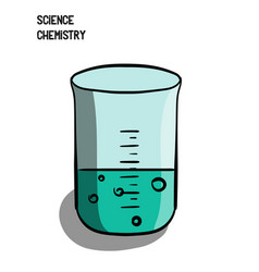 science chemistry a small flask is a glass a vector image