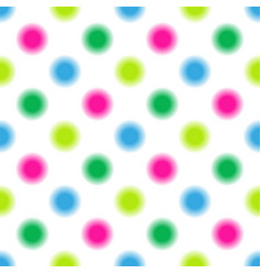 Seamless pattern in multi-colored polka dots vector