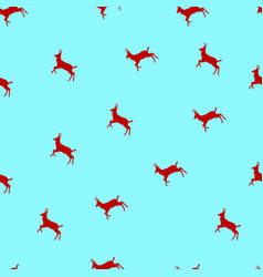 seamless pattern with christmas deers a vector image