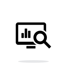 Search chart icon on white background vector image