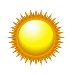 Shiny Sun in the Light Sky vector image