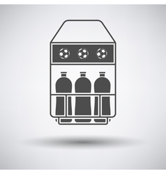 Soccer field bottle container icon vector image