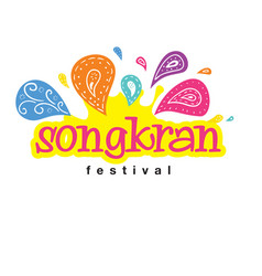 songkran festival songkran is thai culture vintag vector image