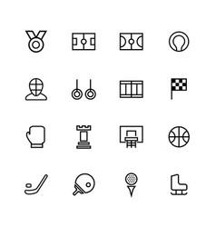 sport line icon vector image