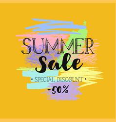 Summer sale template 5 vector