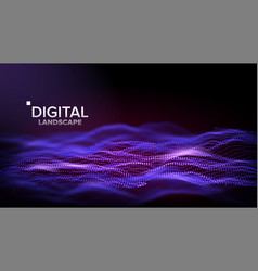 technology landscape tech surface dot vector image