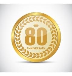 Template Logo 80 Years Anniversary vector