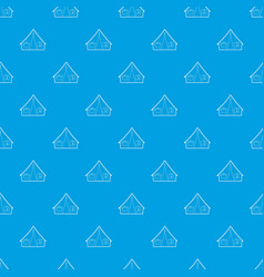 tent pattern seamless blue vector image