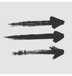 Three arrows directed to the right on a white vector image