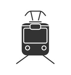 tram glyph icon vector image