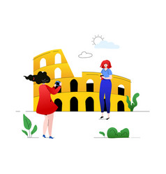 Travel to italy - colorful flat design style vector