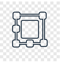 Ungroup concept linear icon isolated on vector