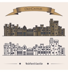 Victorian Irish castle exterior view vector