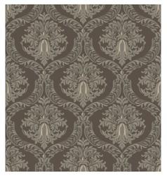 Vintage Baroque Damask pattern background vector