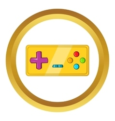 Vintage game joystick icon cartoon style vector