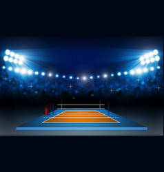volleyball court arena field with bright stadium vector image