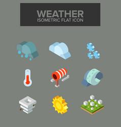 weather isometric icon vector image