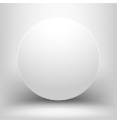 White empty sphere with shadow vector image