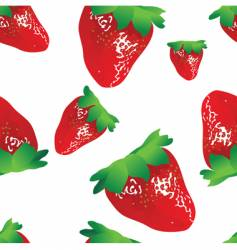 strawberry seamless vector image vector image