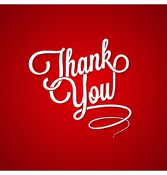 thank you vintage lettering background vector image vector image