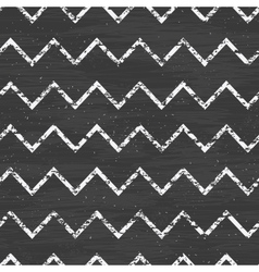 Chalk chevron blackboard seamless pattern vector image