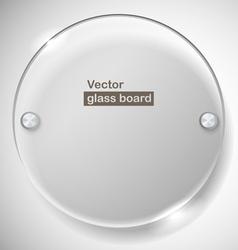 Circle advertising glass board vector image