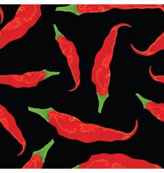 hot chili pattern vector image vector image