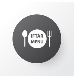 Menu icon symbol premium quality isolated dishes vector