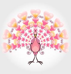 valentine love bird peacock vector image vector image