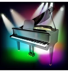 abstract music background with grand piano and vector image
