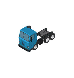 isolated lorry isometric truck element c vector image