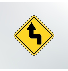 Left Reverse Turn icon vector image vector image