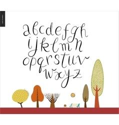 Script alphabet 2 vector image vector image