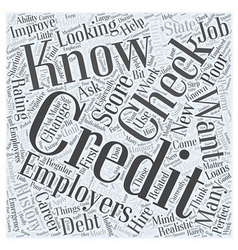 Work related credit checks how to handle them if vector