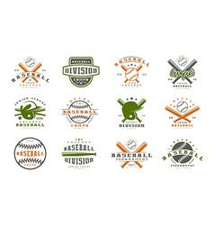 Badges set of baseball team vector image