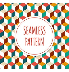Geometric colorful seamless pattern vector image vector image