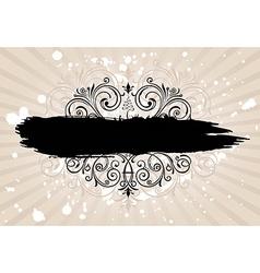 Grunge banner with old background Vintage vector image vector image