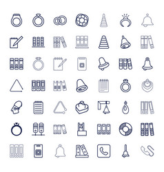 49 ring icons vector