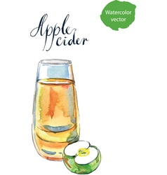 Apple cider vector image