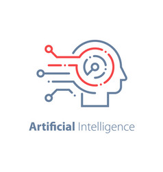 Artificial intelligence concept machine learning vector