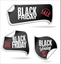 Black friday price tag set vector
