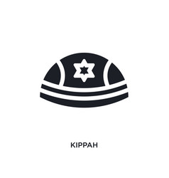 black kippah isolated icon simple element from vector image