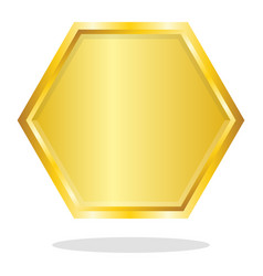 blank polygone gold frame vector image