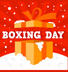 boxing day big sale concept background flat style vector image