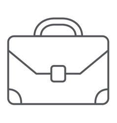 briefcase thin line icon baggage and bag vector image